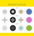 abstract symbols icons set vector image vector image