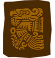 ancient maya drawing a fragment an ornament vector image vector image