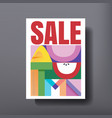 autumn template design for sale discount brochure vector image