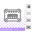 bapiano simple black line icon vector image vector image