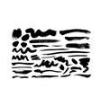 black paint ink brush strokes and lines vector image