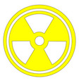 caution radioactive sign in yellow vector image