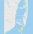 city map miami color detailed plan vector image