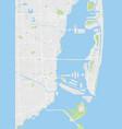 city map miami color detailed plan vector image vector image