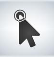click icon cursor symbol with circle modern vector image vector image