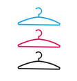 clothes hanger icon isolated line outline vector image