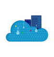 Cloud storage design flat concept saving info vector image