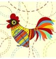 Cock bird ethnic pattern vector image vector image