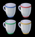 collection of cups vector image vector image
