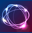 colorful glowing abstract round shapes background vector image
