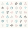 Colorful Winter Snow Flakes Doodles vector image vector image