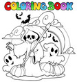 coloring book halloween character 3 vector image