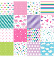 cute baby background seamless patterns vector image