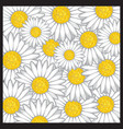 Daisy flower pattern vector image vector image