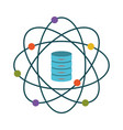 data science atom around of server file colorful vector image vector image