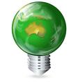 Eco-friendly light bulb vector image vector image