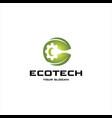 eco tech logo vector image vector image