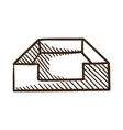 File box or case symbol vector image vector image