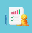 finance sales data revenue statistics marketing vector image vector image