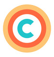 flat copyright symbol sign vector image vector image