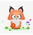 fox cartoon vector image