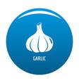 garlic icon blue vector image vector image