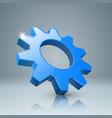 gear 3d icon gogwheel icon vector image