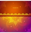 Gold Indian Vintage Ornament vector image vector image