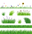 Grass Seamless Elements vector image