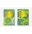 greeting card design with mandala pattern vector image
