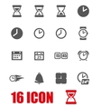 grey time icon set vector image vector image