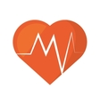 heart rate montoring pulse health sport vector image
