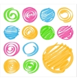Highlighter Shaded and Spiral Design Elements vector image