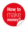 how tomake money label vector image vector image