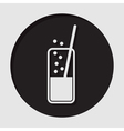 icon - glass with carbonated drink and straw vector image