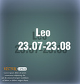 Leo zodiac icon On the blue-green abstract vector image