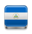 Metal icon of Nicaragua vector image vector image