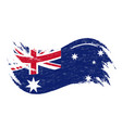 national flag of australia designed using brush vector image