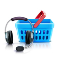 online shopping support concept vector image vector image