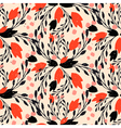 Organic floral pattern in rich warm colors vector image vector image