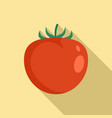 organic red tomato icon flat style vector image vector image