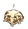 Pancakes Condensed Milk On White vector image vector image