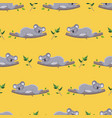 pattern sleeping koalas on branches with leaves vector image vector image