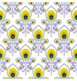 Peacock blue and green seamless pattern