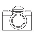 photographic camera vector image vector image