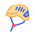 protection helmet alpinism equipment icon vector image