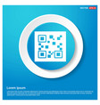 qr code icons abstract blue web sticker button vector image