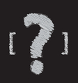 question mark symbol design vector image vector image