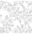 rose on white background vector image vector image