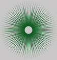 Round halftone vector image